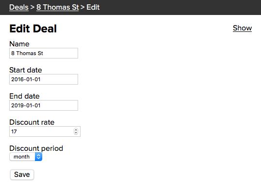 Edit Deal