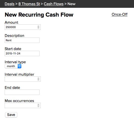 New Recurring Cash Flow